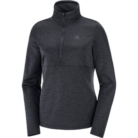 Salomon Transition Camiseta Mid 1/2 Cremallera Mujer, black/heather